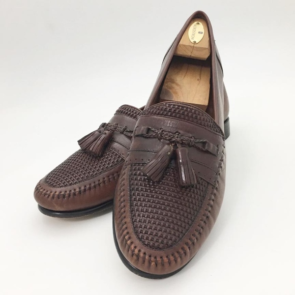 a02e7274583 Nordstrom Mens 12 Kappa Woven Leather Loafers Shoe